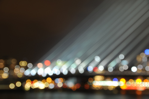 Blurred Erasmusbrug by f-l-e-x
